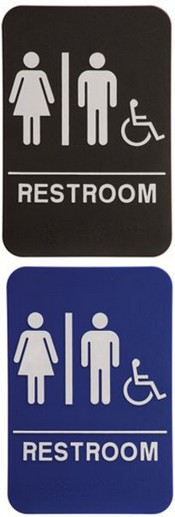 RESTROOM Unisex Handicap Stock ADA Sign ADA Stock Signs Ada Sign - Ada compliant bathroom signs