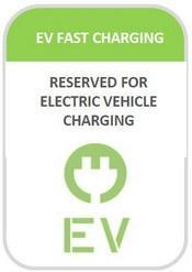 EV Fast Charging Station Sign