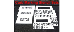 Curb Painting Stencils, Many shape and sizes to choose from