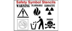 Safety Symbols Stencils