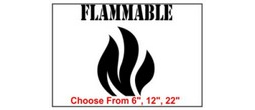 Flammable Safety Symbol Stencil