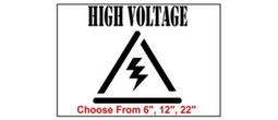 High Voltage Safety Symbol Stencil