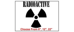 Radioactive Safety Symbol Stencil