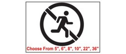 No Running Safety Symbol Stencil