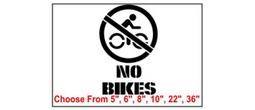 No Bikes Safety Symbol Stencil