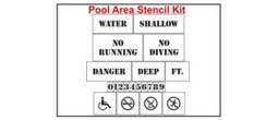 Pool Area Stencil Kit