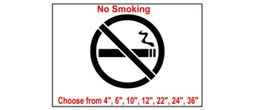 No Smoking Safety Symbol Stencil