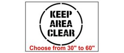 Keep Area Clear Safety Symbol Stencil