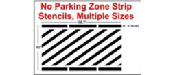 No Parking Line Strip Stencils, Many shape and sizes to choose from