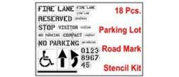 Parking Lot Stencil Kit - 18 Pcs.