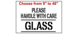 Please handle with care, GLASS Stencils