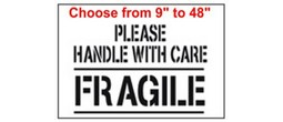 Please handle with care, FRAGILE Stencils