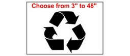 Recycle Symbol Stencils