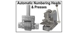 Steel Automatic Numbering Heads, Wheels and Presses