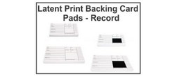 Latent Print Backing Card Pads - Record