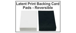Latent Print Backing Card Pads - Reversible