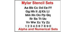 Letter & Number Sets in Mylar Plastic
