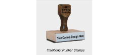 Traditional Rubber Hand Stamps