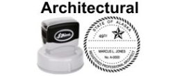 Architectural State Seals, PRE-INKED