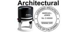 Architectural State Seals SELF-INKING