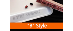 RIBtype REGULAR CONDENSED (B) Typestyle