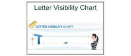 Letter Visibility Chart