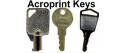 Acroprint Key Replacements