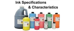 Ink Specifications & Characteristics