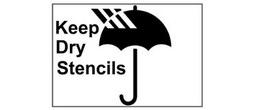 Keep Dry Symbol Stencils II