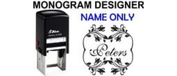 Name Monogram Stamps
