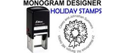 Christmas and Holiday Monogram Stamps