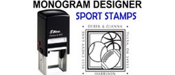 Sports Related Monogram Stamps