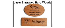 Laser Engraved Wood Badges and More
