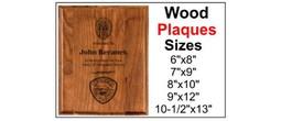 Premier Wood Plaques