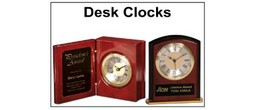 Personal Engraved Desk Clocks