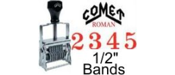 Comet Size 4 Roman Self-Inking Band Stamps