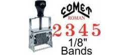 Comet Size 0 Roman Self-Inking Band Stamps