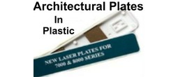 Architectural Sign Insert Plates