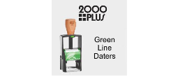 2000Plus Green Line Self-Inking Daters