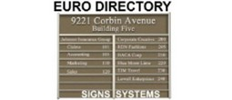 Euro Directory Sign System Frames