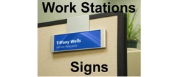 Modular Workstation Signs