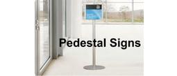 Modular Freestanding Pedestal Sign Frames