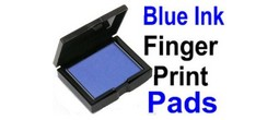 Blue Fingerprint Ink Pads