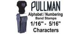 Pullman Alphabet / Numbering Band Stamps