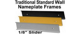 Traditional Aluminum Wall Frames - 1/8