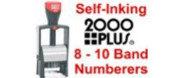 2000 Plus Self-Inking Numbering Band Stamps