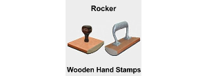 Large Custom Rocker Hand Rubber Stamps