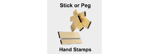 Custom Wooden Peg Hand Stamps
