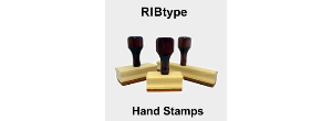 Custom Hand Stamps with Ribbed Rubber