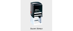 Shiny Printer Square Stamps